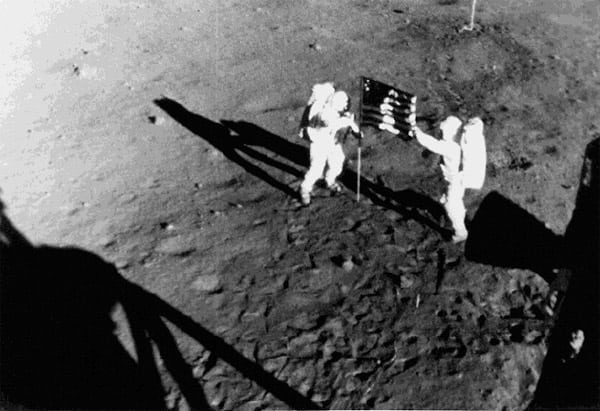 The first walk on the moon (1969)