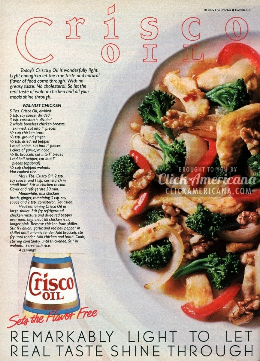 Walnut Chicken recipe (1985)