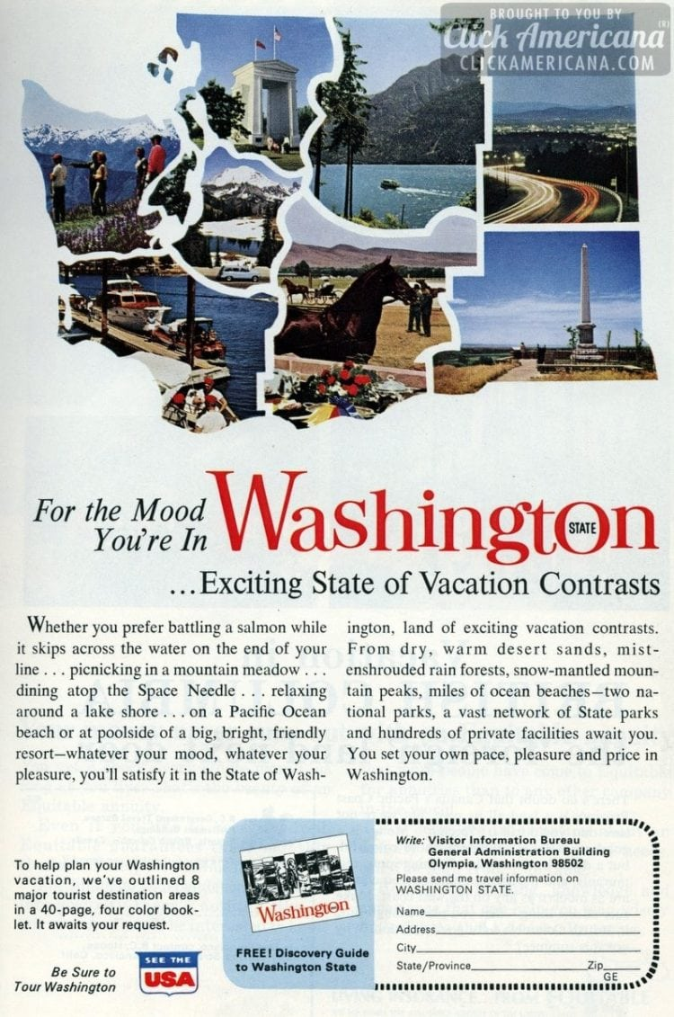 For the mood you're in: Visit Washington state (1965)
