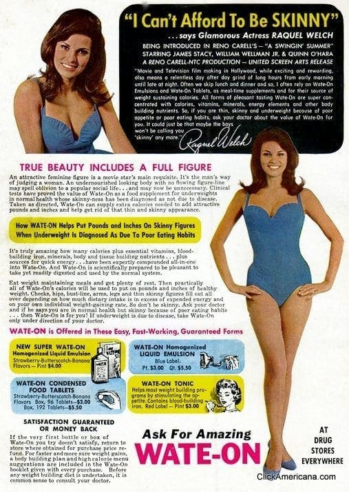 Don't be skinny! Try Wate-On (1967-1969)