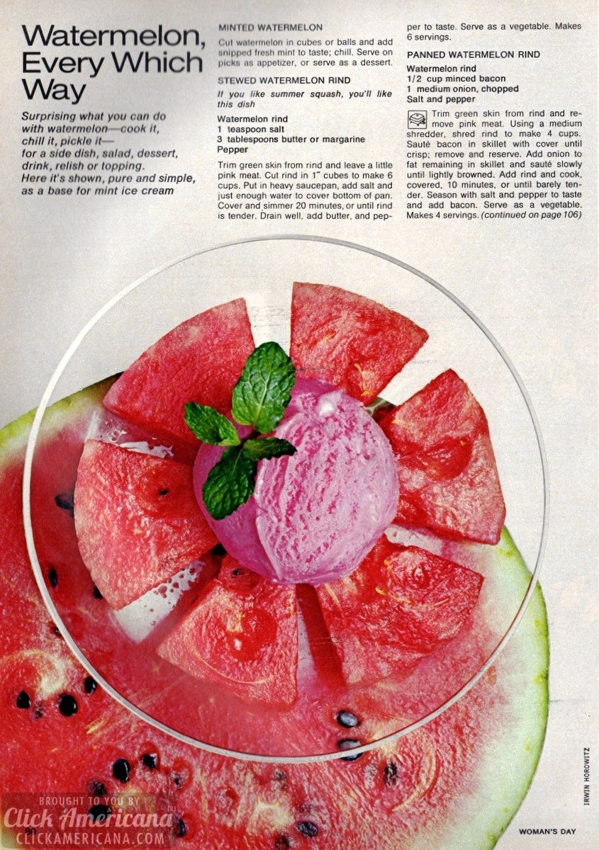 Watermelon, every which way: 17 recipes (1972)