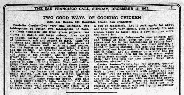 Two good ways of cooking chicken (1912)