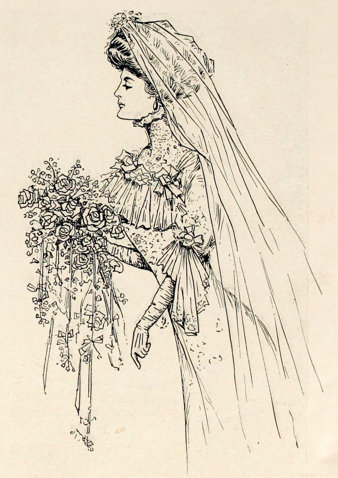 wedding bride 1908