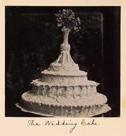 Wedding Cake recipe (1911)
