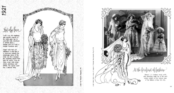 "Sample pages from ""Something Old: Vintage Wedding Dress Fashion Look Book"""