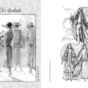 """Sample pages from """"Something Old: Vintage Wedding Dress Fashion Look Book"""""""