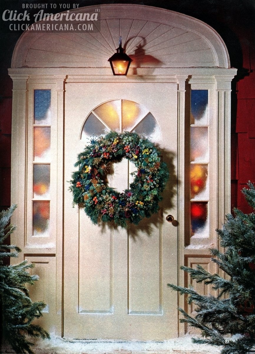 Make a welcoming Christmas wreath for your front door (1962) - Click Americana & Make a welcoming Christmas wreath for your front door (1962) - Click ...