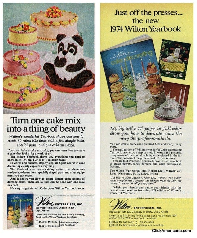 Wilton cake decorating in the 1970s click americana