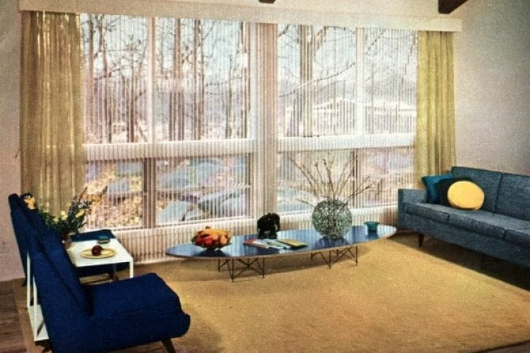 Stylish Vintage Window Coverings From The Fifties 1956