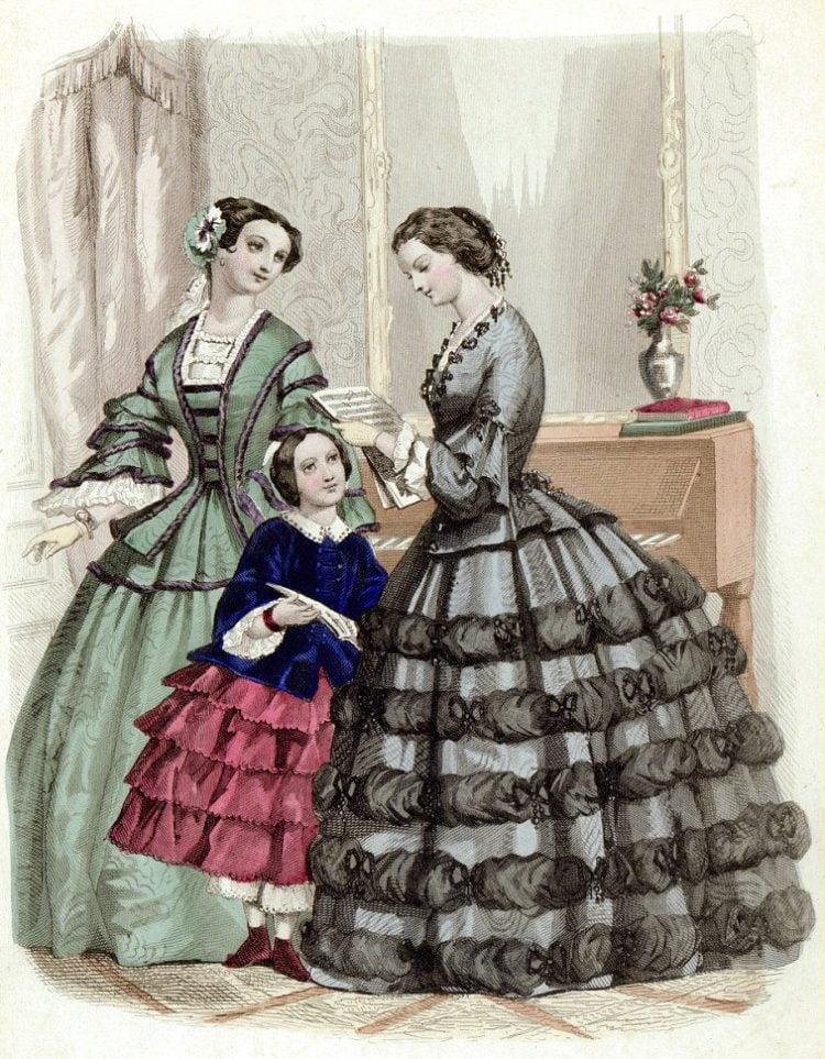 woman-reading-letter-1855-antique