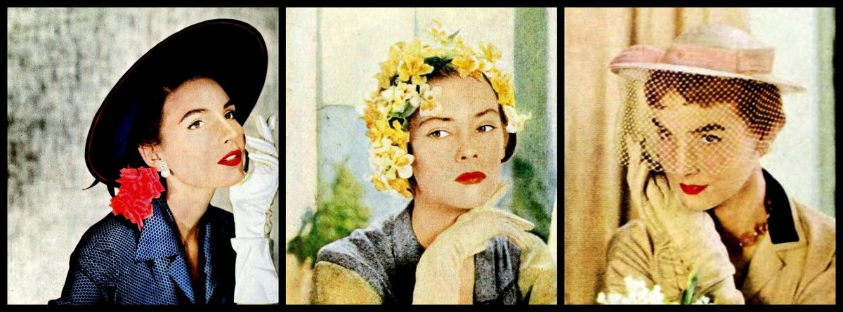 womens hats from 1950