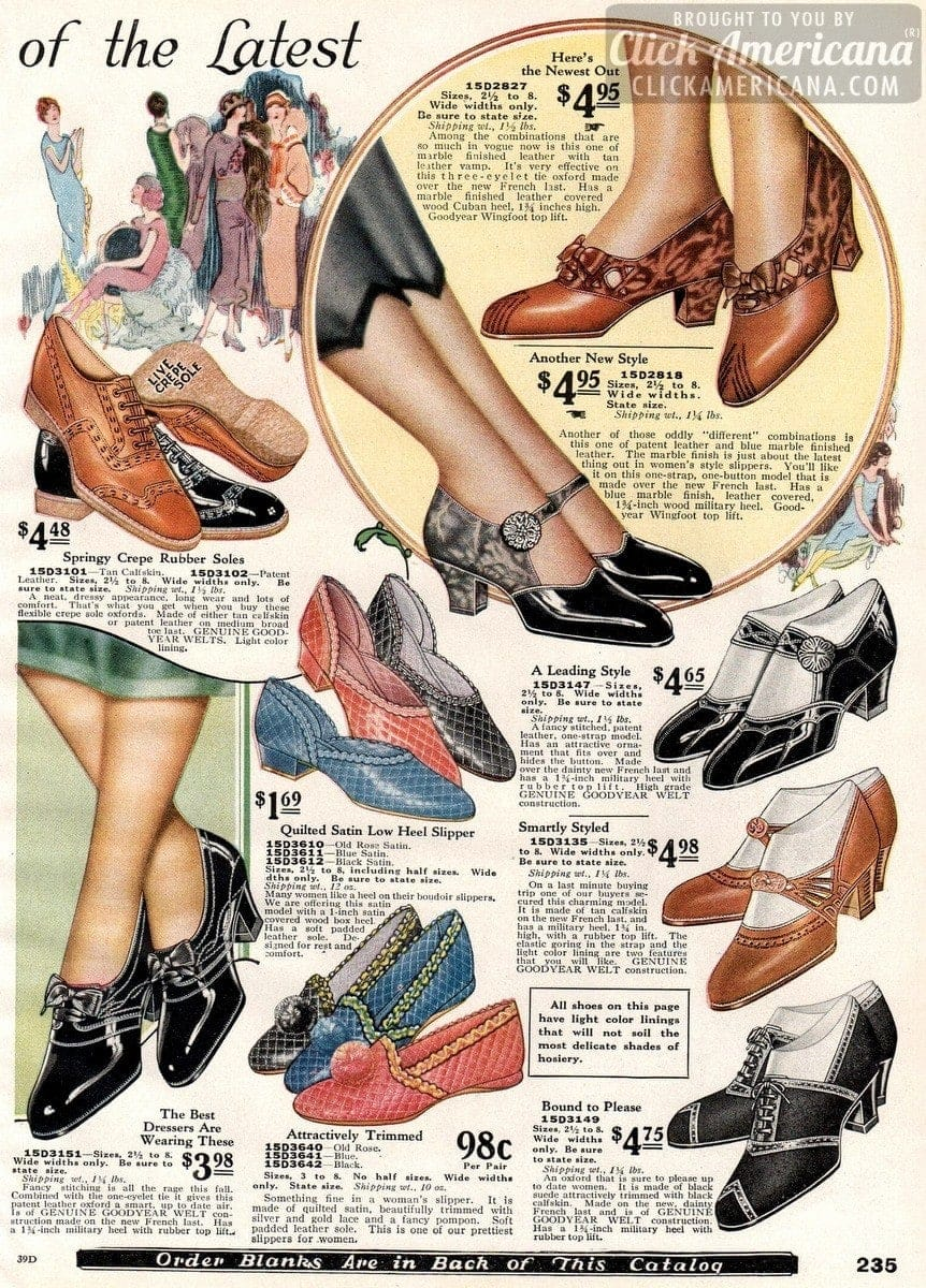 Stylishly smart women's shoes from 1925