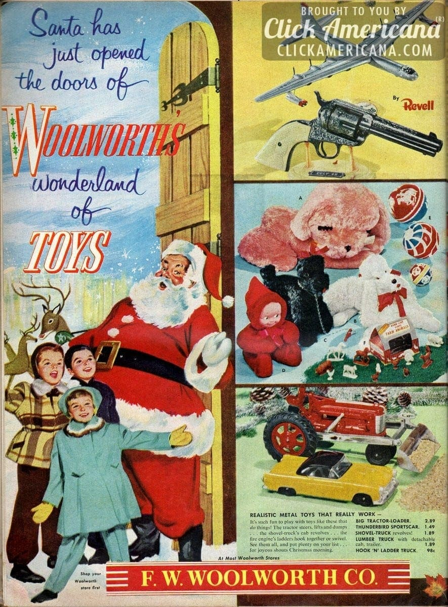 Retro Christmas Toy : Woolworth s wonderland of toys click americana