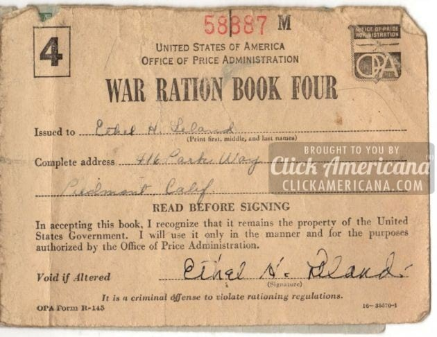 photograph regarding Ration Book Ww2 Printable named Ration stamps in opposition to WW2: War Ration E-book 4 - Simply click Americana