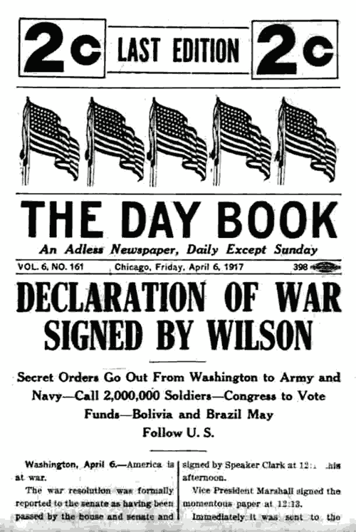 declaration for war in 1917 essay