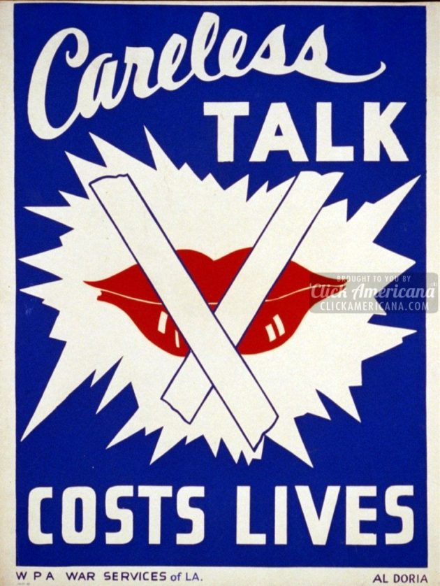 wwii-Careless talk costs lives
