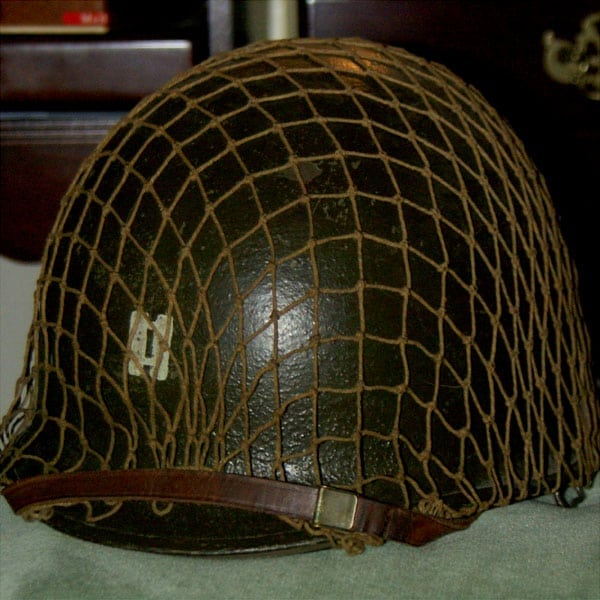 See a WWII combat helmet up close (1943)