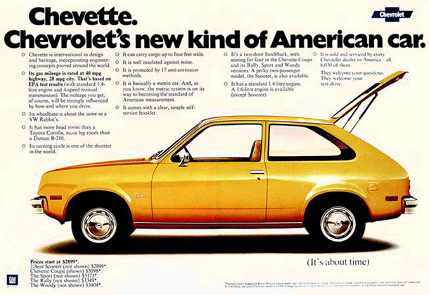 Chevrolet Chevette: A new kind of American car (1975 ...