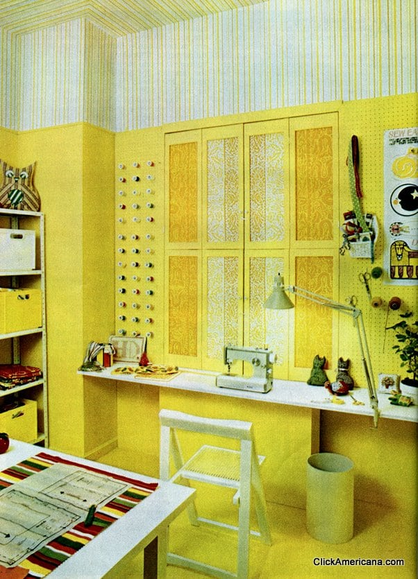 A sewing room makeover (1972) - Click Americana