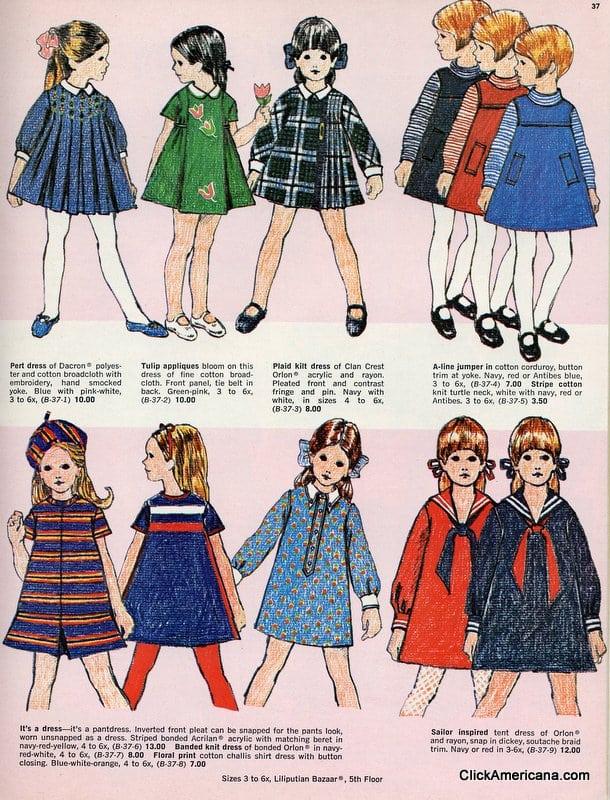 Fashionable dresses for little girls (1967)