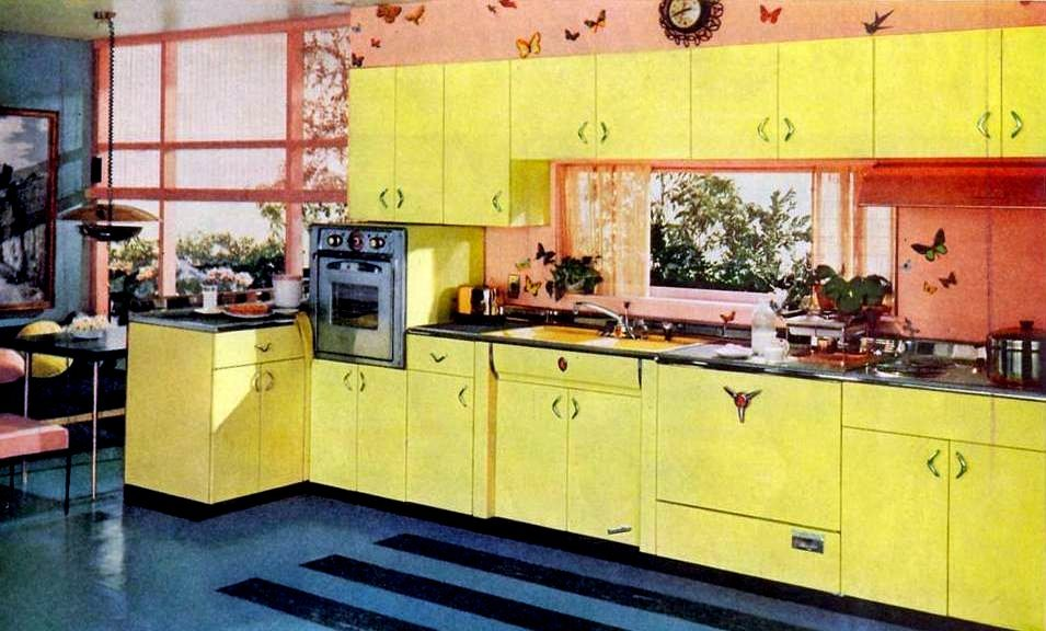 Pink Yellow Kitchens Of The Fifties Click Americana