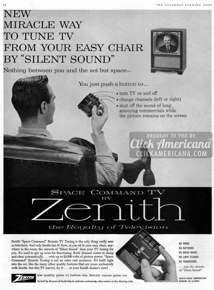 "New Zenith ""Space Command"" TV remote control (1957)"